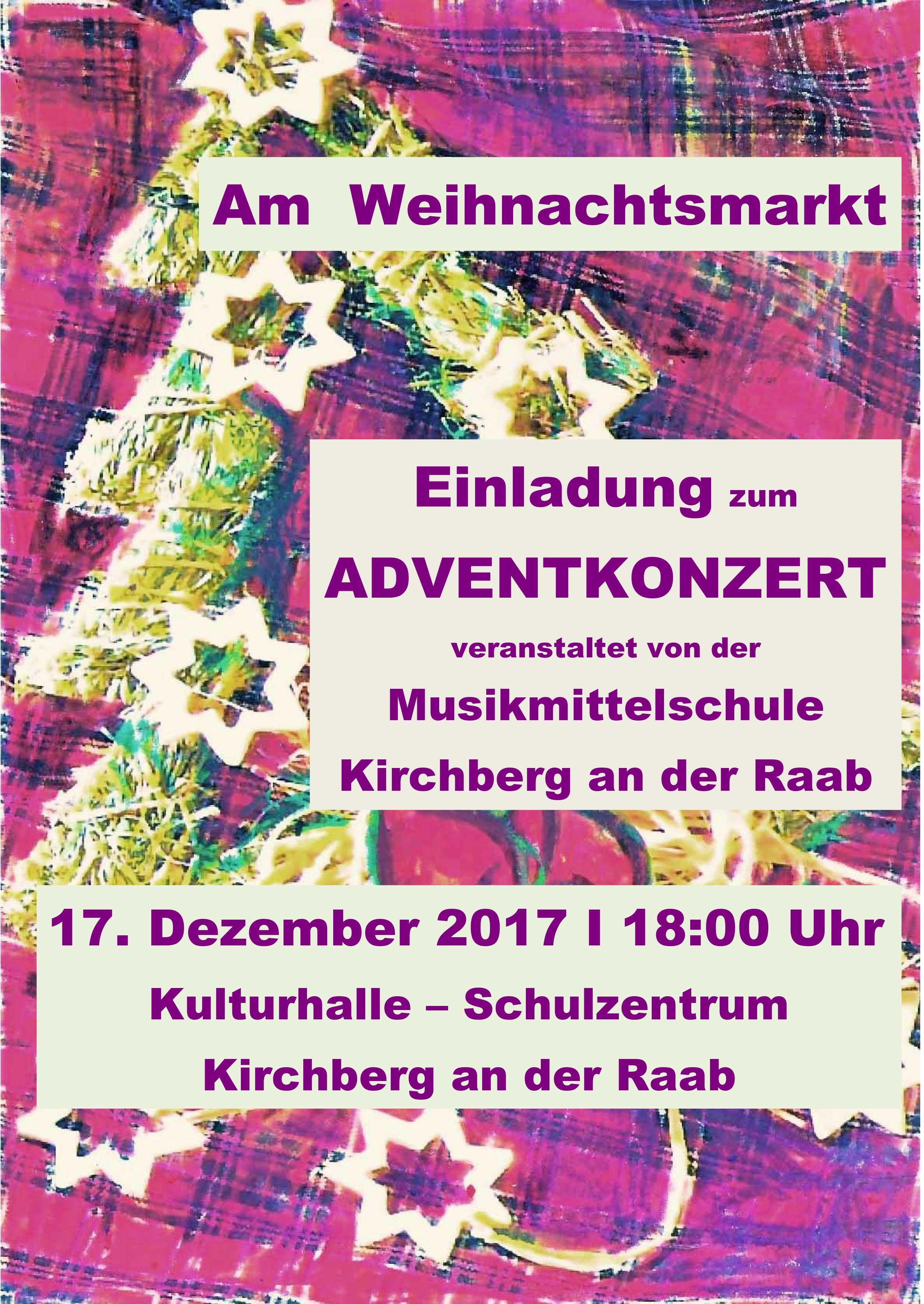 Einladung zum Adventkonzert
